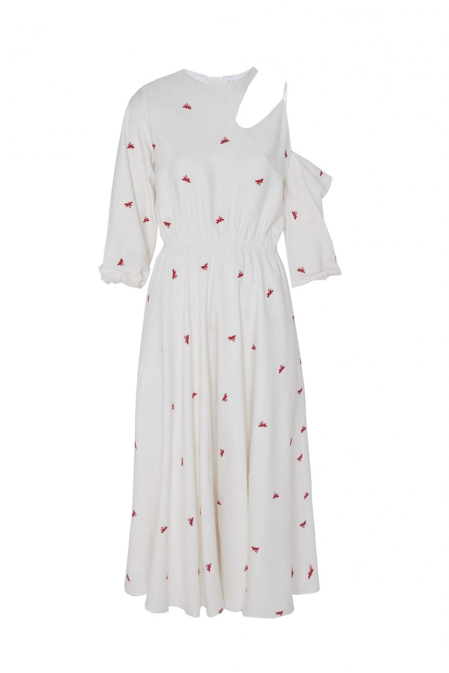 Cut out dress with Embroidery